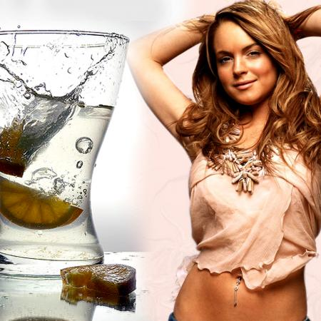 Lindsay Lohan With Drink