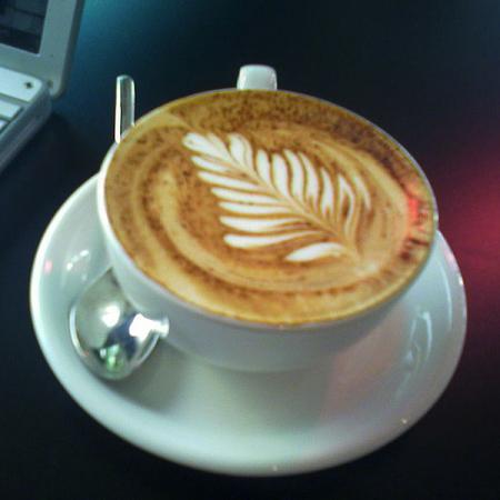 Pretty cappuccino
