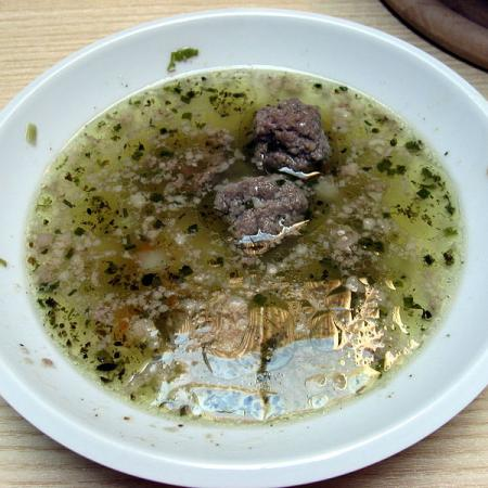 Soup with liver dumplings