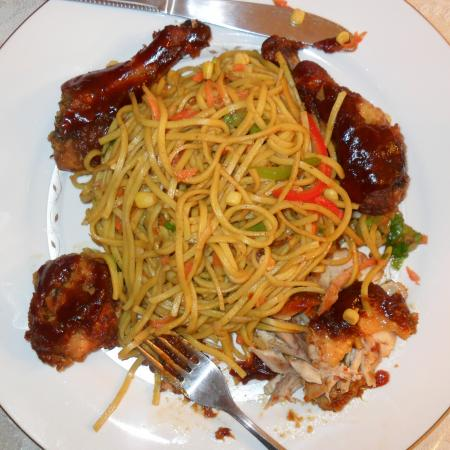 Chowmein And Bake B Que Chicken