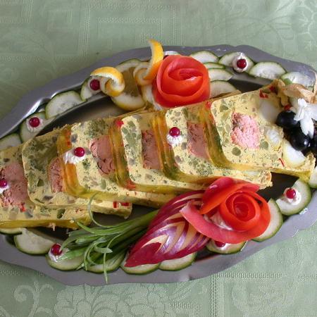 Salmon terrine with basil
