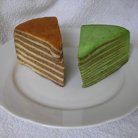 Spekkoek naturel en pandan