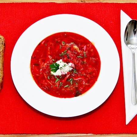 Borscht with bread