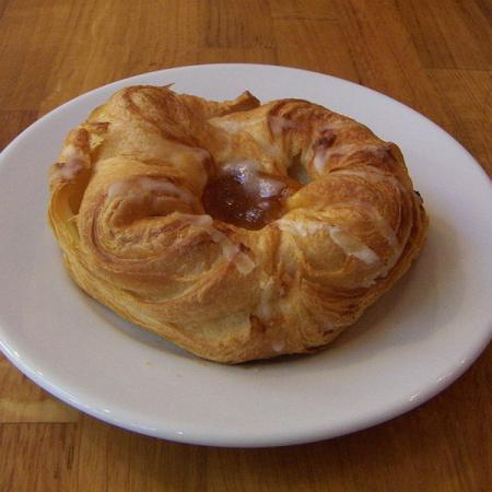 Glazed apple Danish