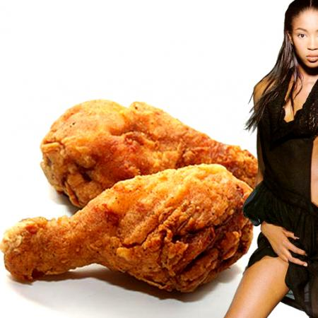 Naomi Campbell with Kentucky Fried Chicken