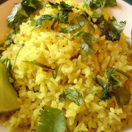 Poha made of flattened rice