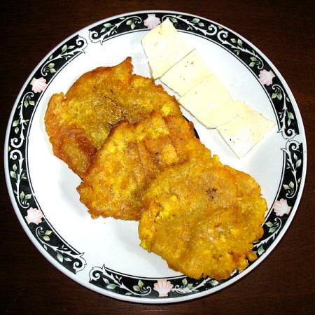 Patacones con queso
