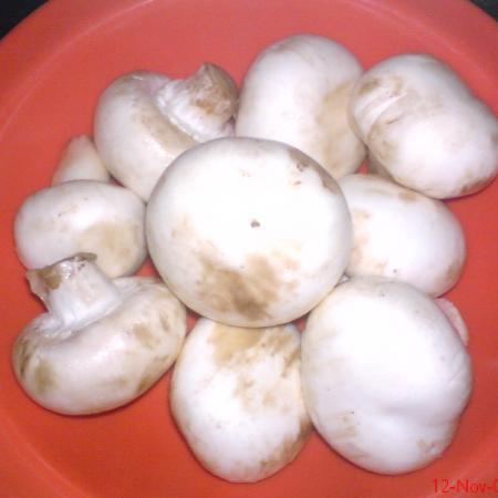 Fresh White Mushrooms