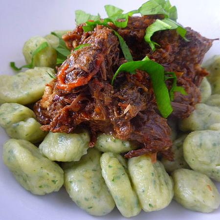Wild Garlic Gnocchi and Beef Cheek Ragu