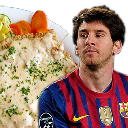 Lionel Messi with Chicken Fried Steak