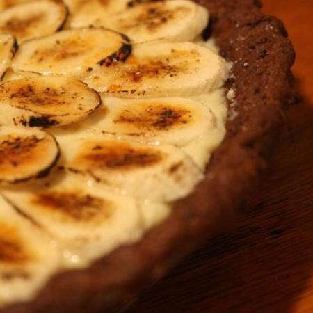 Banana Cream Pie with Whole Grain Chocolate Crust