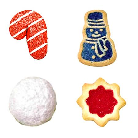 Christmas Cookies of All Shapes