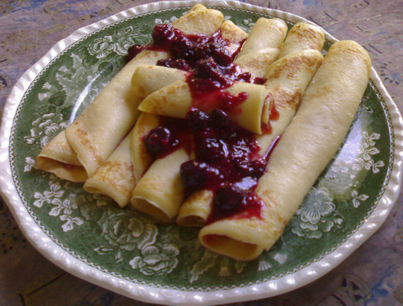 Swedish Pancakes With Cherry Compote picture