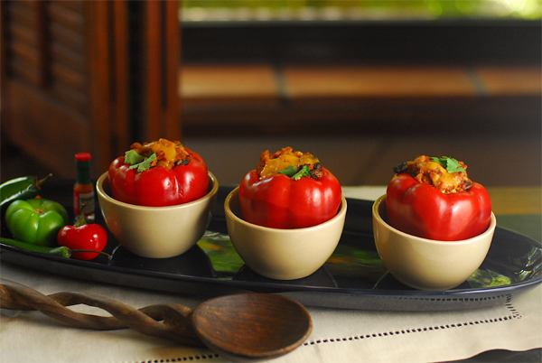 Slow Cooked Tex Mex Stuffed Peppers  picture