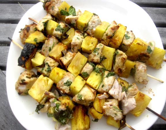 Fish Kebabs With Pineapple Sauce picture