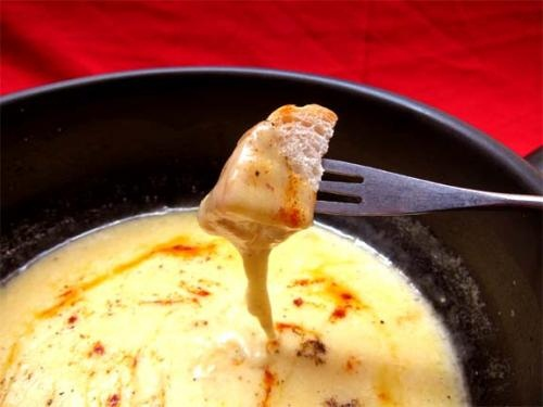 Three Cheese Fondue With Tomato Onion Chutney picture