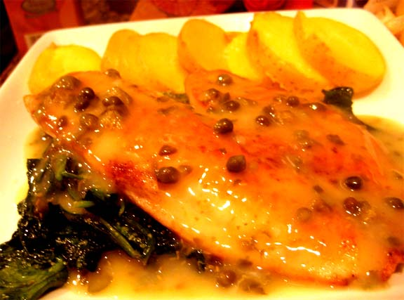 Tilapia In Lemon Sauce With Capers picture