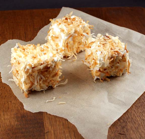 Toasted Coconut Tea Squares picture