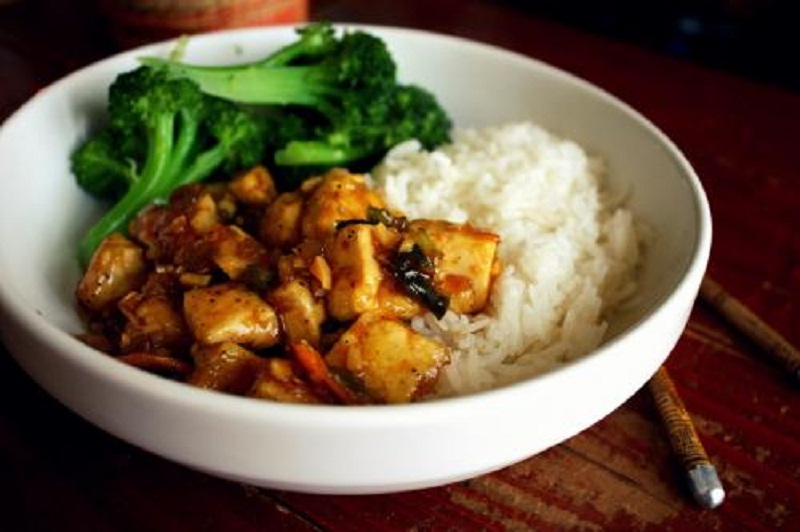 Tofu And Mushrooms picture