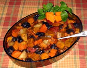 Honey glazed Sweet Potato & Carrot Tzimmes picture