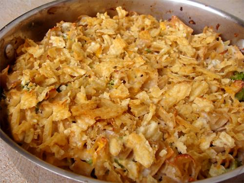 Salmon And Potato Chip Casserole picture