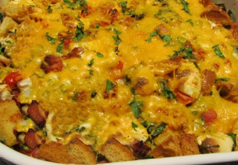 Turkey Ham Cheese Casserole picture