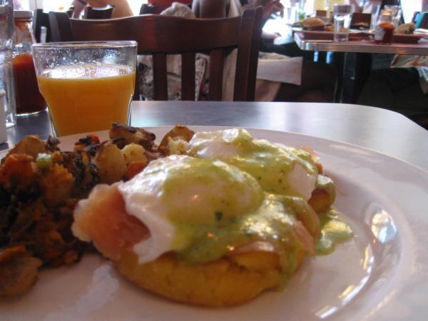 Egg Benedict at Yuca Bar