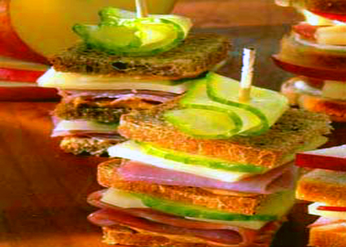 Cucumber & Swiss Rye Stack-ups picture