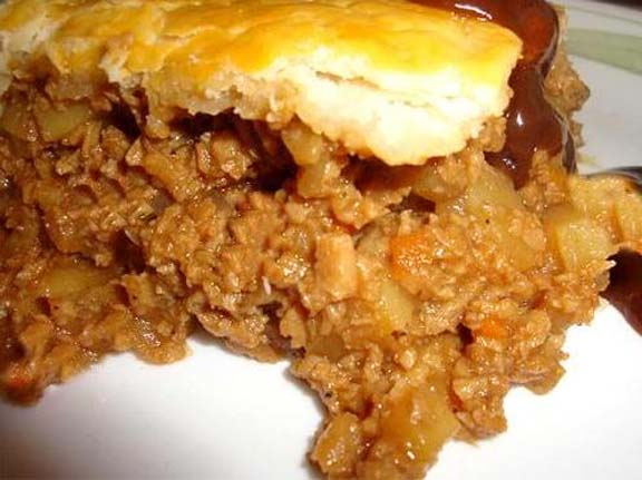 Up Side-Down Beef and Chili Pie picture