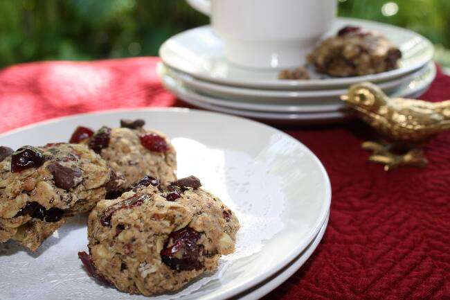 Vegan Cranberry Oatmeal Cookies picture