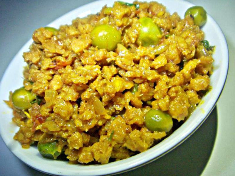 Vegetarian Keema With Peas picture