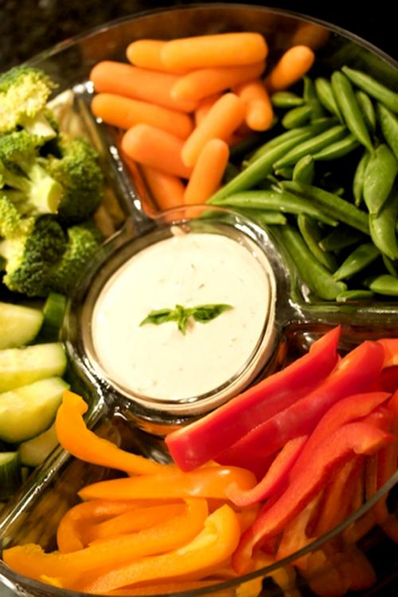 Fresh Garden Vegetable Platter with Russian Dressing picture