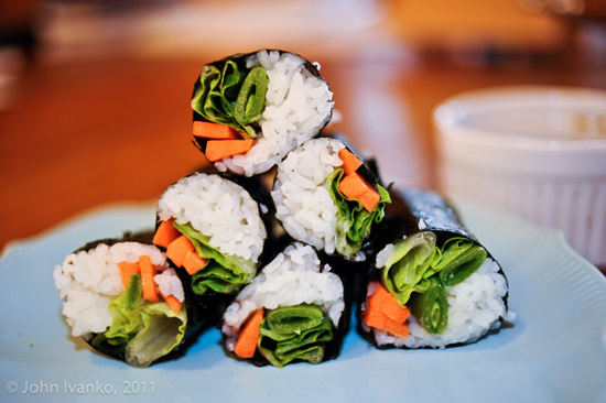 Vegetarian Nori-wrapped Sushi (vegan) picture