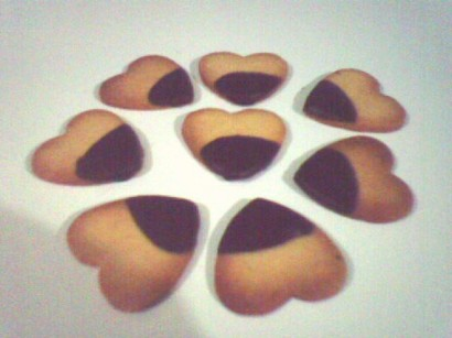 Homemade Heart Shaped Shortbread Cookies picture