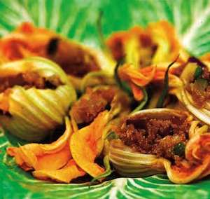 Zucchini Blossoms Stuffed with Amaranth picture